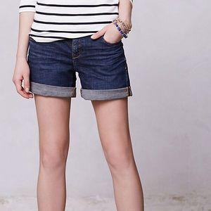 Pilcro Stet Denim Roll- Up shorts 27